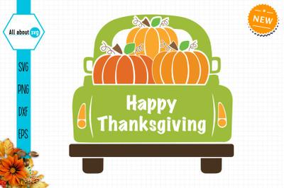 Thanksgiving Truck Svg