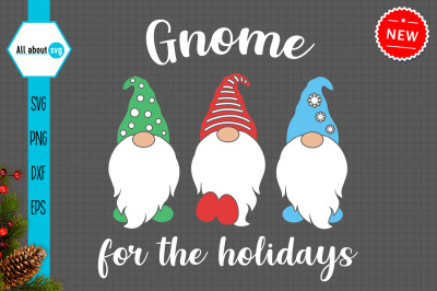 Gnome For The Holidays Svg