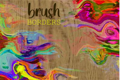 Watercolor Brush Stroke Page Borders