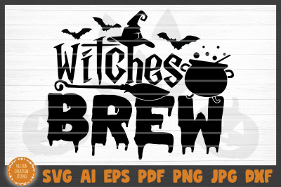 Witches Brew Halloween SVG Cut File