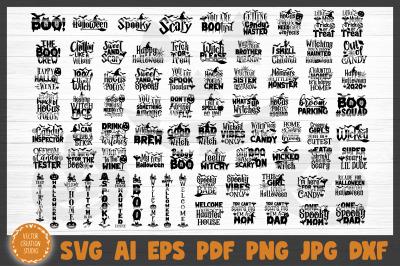 80 Halloween Bundle SVG Cut Files