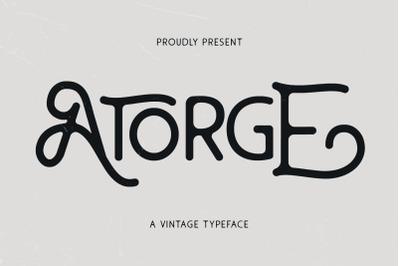 Atorge Vintage Typeface