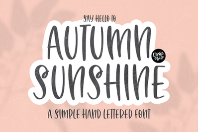 AUTUMN SUNSHINE Brush Font