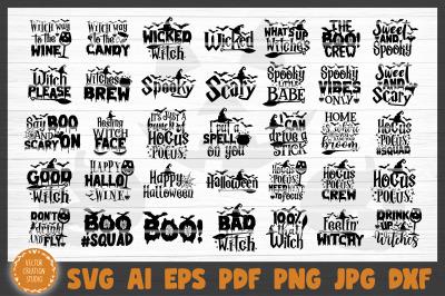 Witch Halloween Bundle SVG Cut File