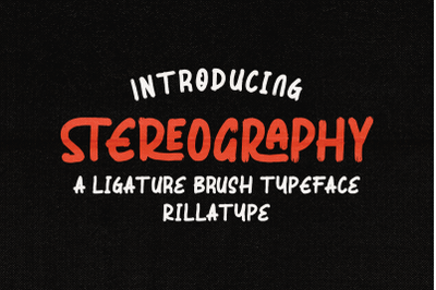 Stereography - Ligature Brush Typeface