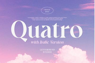 Quatro - A Modern Serif Font