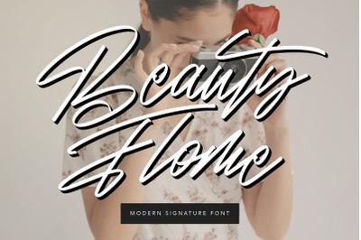 Beauty Flome Signature Modern Font