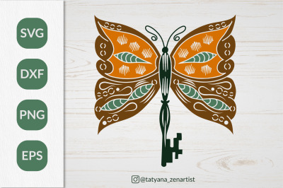 Boho Butterfly SVG, Silhouette Butterfly for t-shirt design