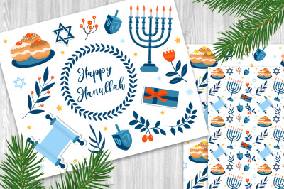 Happy hanukkah set+ PATTERNS