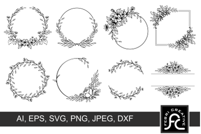 Wreath clipart frame SVG