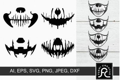 Halloween Masks SVG 2