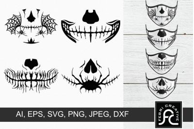 Halloween Masks SVG 3