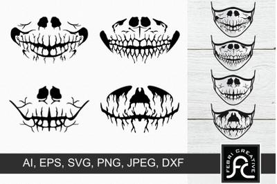 Halloween Masks SVG 4