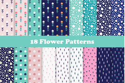 Flowers Seamless Repeat Patterns