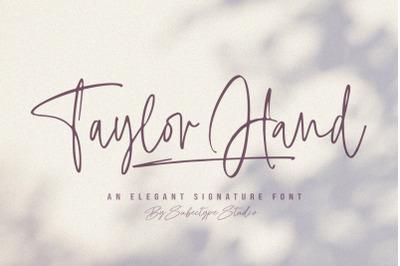 Taylor Hand - Handwritten Signature