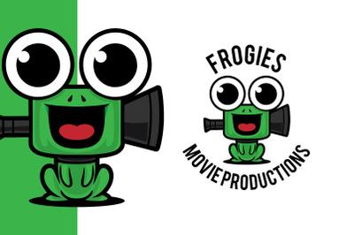 Frog Play Movie Studio Logo Template