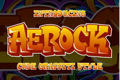 Aerock - Cube Graffiti Font