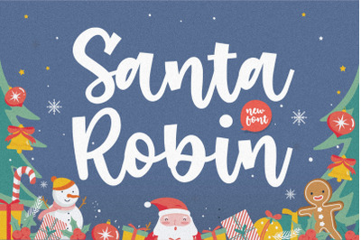 Santa Robin Modern Handbrushed Font