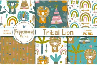 Tribal Lion paper set