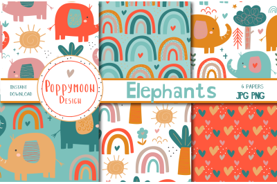 Elephants paper set