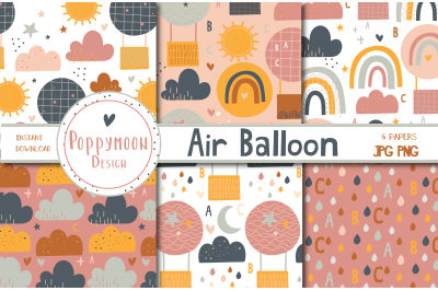 Air Balloons Paper set