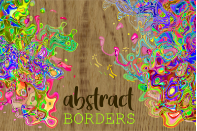 Funky Abstract Squiggle Page Border Art