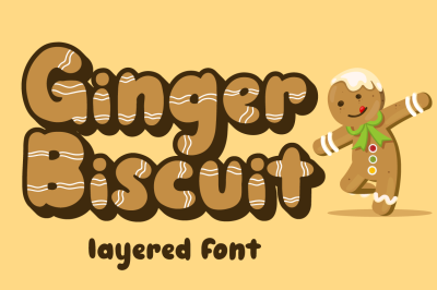 Ginger Biscuit - Christmas Font