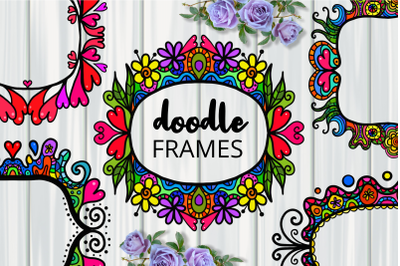 Decorative Folk Art Doodle Border Frames