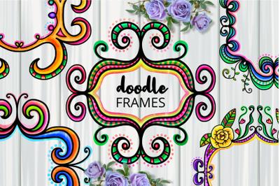 Ornamental Folk Art Doodle Border Frames