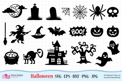 Halloween SVG, Eps, Dxf, Png and Jpg