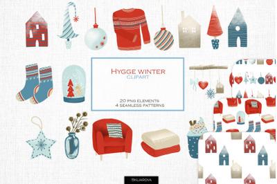 Hygge winter clipart