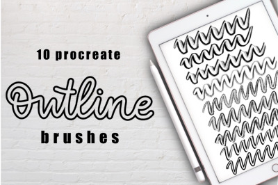 Outline Brushes for Procreate