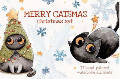 Merry Catsmas Christmas set