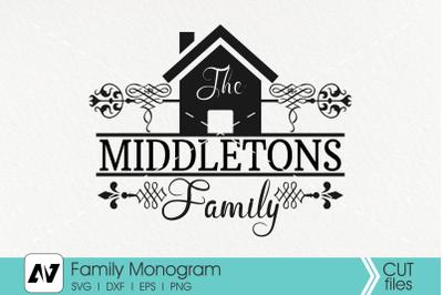 Family Monogram Svg, Family Svg, Home Sign Svg, Wood Sign Svg