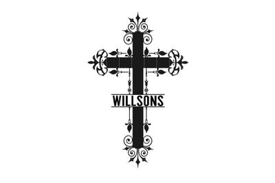 Cross Monogram Svg, Cross Svg, Cross Clip Art, Cross Graphics