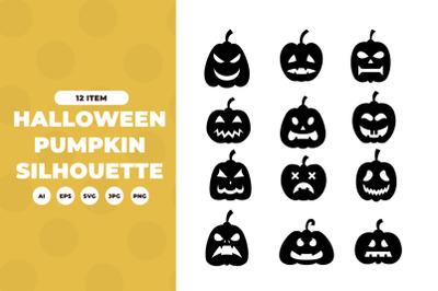 Silhouettes of pumpkin