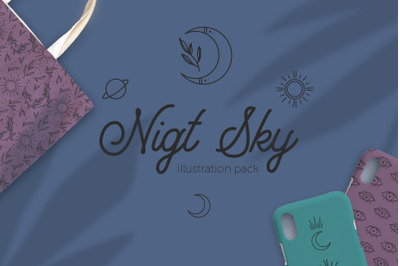 Night Sky | vector illustrations