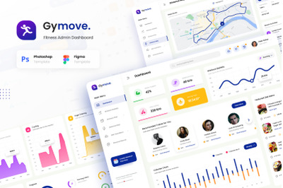 Gymove - Fitness Admin Dashboard Website Design UI