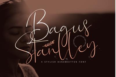 Bagus Stanlley - Stylish Script Font
