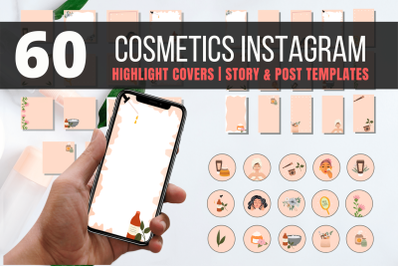 60 Natural Cosmetics Instagram Highlight covers and templates