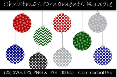 Christmas Holiday Ornament SVG Pack