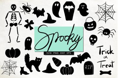 Spooky Halloween SVG set