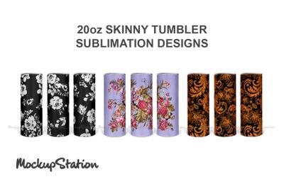 20oz Skinny Tumbler Design Bundle Sublimation PNG
