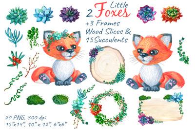 Fox Woodland Watercolor Nursery