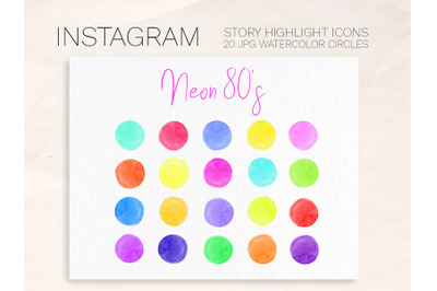 Bright Neon 80s Instagram Story Highlight cover