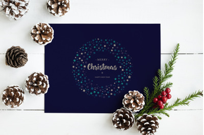 Christmas and New Year Greeting Card Printable