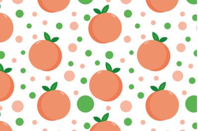 peach seamless pattern flat