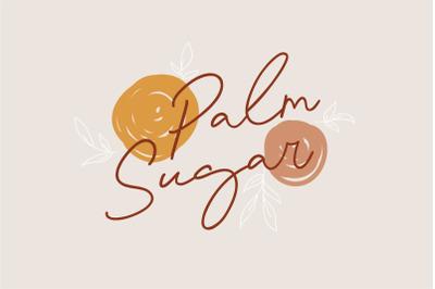 Palm Sugar Font + Doodles