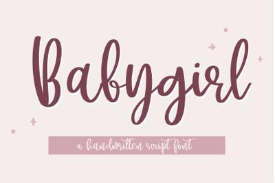 Babygirl - A cutey handwritten script font