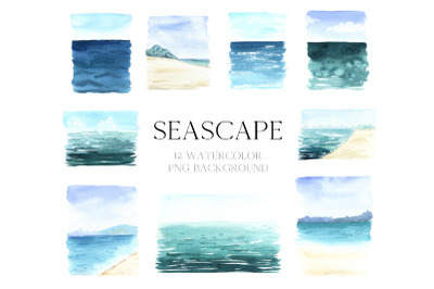 Watercolor Sea beckground